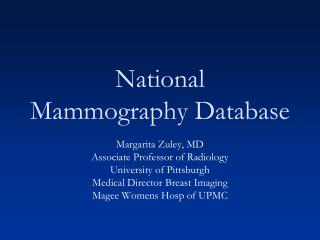 National Mammography  Database