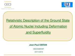 Relativistic  Description of the  Ground  State  of  Atomic Nuclei Including Deformation