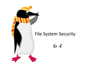 File System Security	 ls  -l