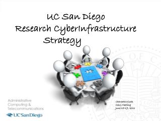 UC San Diego  Research CyberInfrastructure Strategy