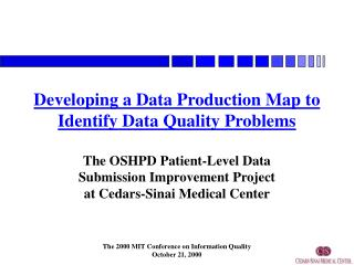 Developing a Data Production Map to Identify Data Quality Problems