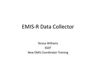 EMIS-R Data Collector