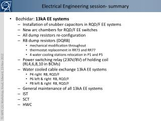 Electrical Engineering  session - summary