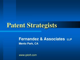 Patent Strategists