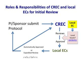 Roles & Responsibilities of CREC and local ECs for Initial Review