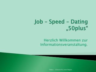 "Job – Speed –  Dating ""50plus"""