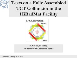 Tests on a Fully Assembled TCT Collimator in the  HiRadMat  Facility