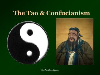 The Tao & Confucianism