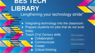 BES TECH LIBRARY
