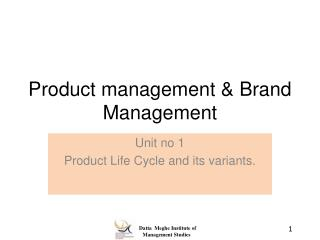 Product management & Brand Management