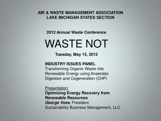 AIR & WASTE MANAGEMENT ASSOCIATION LAKE MICHIGAN STATES SECTION