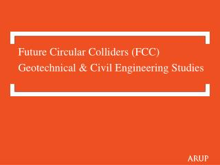 Geotechnical  & Civil Engineering Studies