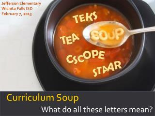 Curriculum Soup