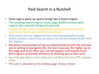 Paid Search in a Nutshell