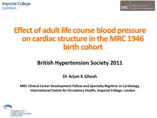 Effect of adult life course blood pressure on cardiac structure in the MRC 1946 birth cohort