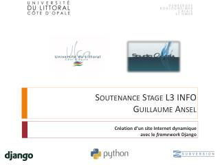 Soutenance Stage L3  INFO Guillaume Ansel