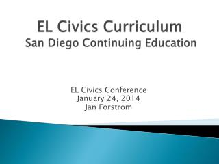 EL Civics Curriculum   San Diego Continuing Education