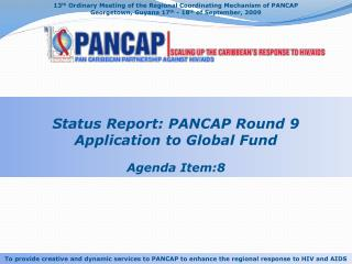 13 th  Ordinary Meeting of the Regional Coordinating Mechanism of PANCAP