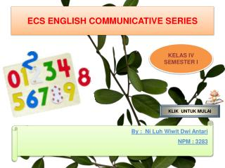 ECS ENGLISH COMMUNICATIVE SERIES