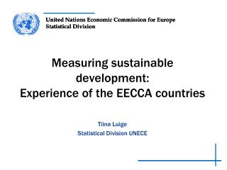 Measuring sustainable development:  Experience of the EECCA  countries