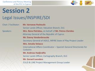 Session 2 Legal Issues/INSPIRE/SDI