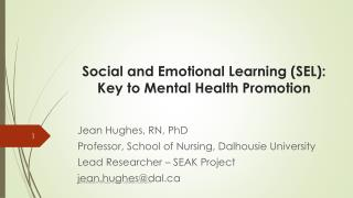 Social and Emotional Learning (SEL):  Key to Mental Health Promotion
