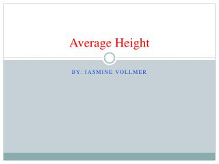 Average  Height