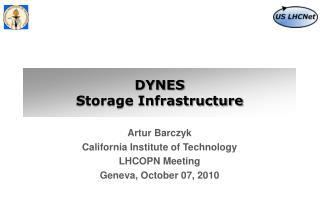 DYNES  Storage Infrastructure