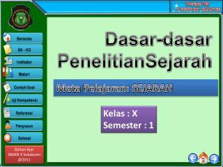 Kelas  :  X Semester :  1