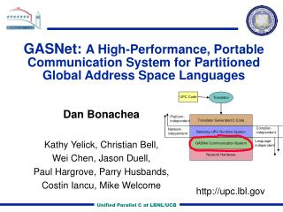 GASNet:  A High-Performance, Portable Communication System for Partitioned Global Address Space Languages