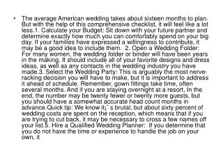 The average American wedding