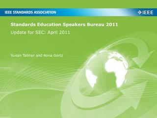 Standards Education Speakers Bureau 2011
