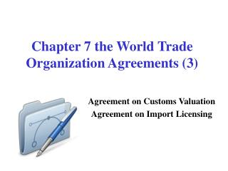 Chapter 7 the World Trade Organization Agreements (3)