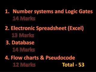 Number systems and Logic Gates  14 Marks