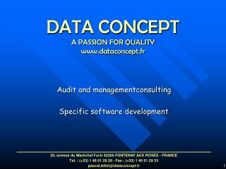 DATA CONCEPT  A PASSION FOR QUALITY dataconcept.fr