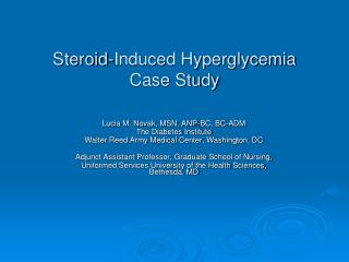Steroid-Induced Hyperglycemia Case Study