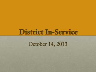 District In-Service