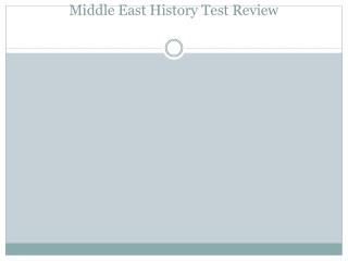 Middle East History Test Review