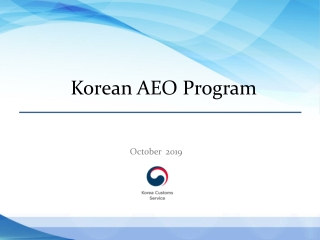 The Role of Customs Broker in Korea AEO System