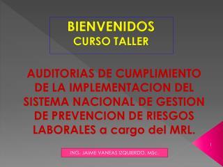 BIENVENIDOS  CURSO TALLER