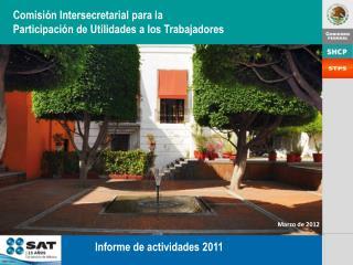 Comisión Intersecretarial  para la Participación de  Utilidades a  los Trabajadores