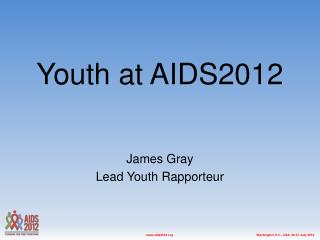 Youth at AIDS2012