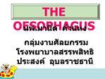 THE  OESOPHAGUS