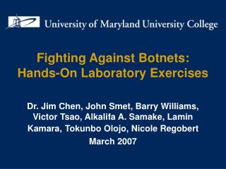 Fighting Against Botnets: Hands-On Laboratory Exercises