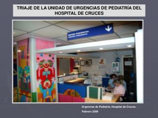 TRIAJE DE LA UNIDAD DE URGENCIAS DE PEDIATR A DEL HOSPITAL DE CRUCES