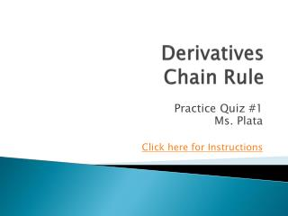 Derivatives Chain Rule