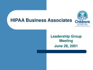 HIPAA Business Associates