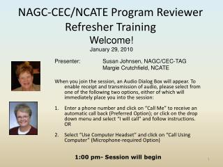 NAGC-CEC/NCATE Program Reviewer Refresher Training