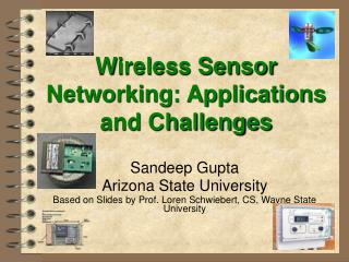 Wireless Sensor Networking: Applications and Challenges