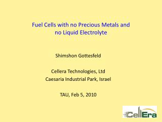 Fuel Cells with no Precious Metals and  no Liquid Electrolyte